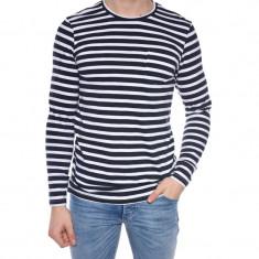 Bluza Jack&Jones Jcolewis Tee Ls Crew Neck Regular Fit Wite Stripe Navy