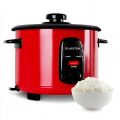 KLARSTEIN OSAKA, roșu, vas de orez, 500 W, 1, 5 litri, funcția de păstrare la cald - Aparat Gatit Aburi