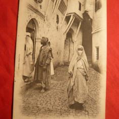 Ilustrata Alger -Str.Mer Rouge -Costume Traditionale, inc.sec.XX, Necirculata, Printata
