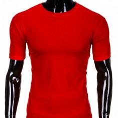 Tricou pentru barbati, rosu simplu, slim fit, mulat pe corp, bumbac - S620 - Tricou barbati, Marime: L