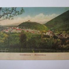 Carte postala Cisnadioara circulata/cenzurata Sibiu anii 40 - Carte Postala Transilvania dupa 1918, Printata
