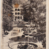 Bnk cp Baile Herculane - Parcul de odihna - uzata - Carte Postala Banat dupa 1918, Necirculata, Printata
