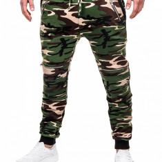 Pantaloni pentru barbati, camuflaj, stil militar, army, slim, cu banda, siret si buzunare - P383 - Pantaloni barbati, Marime: M