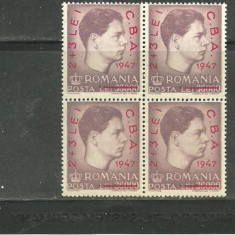 ROMANIA 1947 - CAMPIONATELE BALCANICE DE ATLETISM, bloc de 4 MNH, K109
