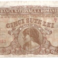 ROMANIA 500 LEI 1947 COSASUL VF - Bancnota romaneasca