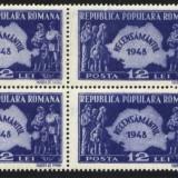 Romania 1948 – RECENSAMANTUL, bloc nestampilat, UN108 - Timbre Romania