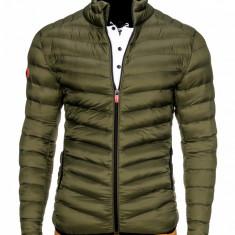 Geaca pentru barbati, verde, stil militar, army, impermeabila, fermoar, model slim - c299 - Jacheta barbati, Marime: S, M, XL, XXL