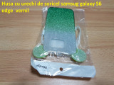 Husa cu urechi de soricel samsug galaxy S6 edge  vernil