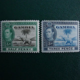 LOT GAMBIA GEORGE VI ANGLIA/COLONII MH, Nestampilat