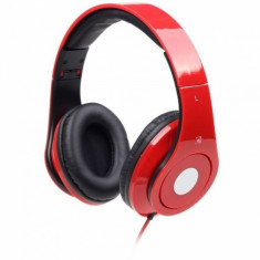 Casti audio Gembird Detroit, 3.5 mm Jack TRRS, Peste cap, Rosu - Casca PC