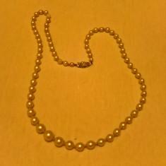 Colier margea cu inchizatoare din argint 800 - Colier perle