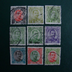 LOT TIMBRE ISLANDA - Timbre straine, Stampilat