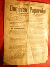 Ziarul Duminica Poporului 2 martie 1930 ,Director Simion Mehedinti ,8 pag foto