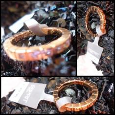 INEL 25 mm VERIGHETA DAMA ALIAJ INOX AURIU ANTIALERGIC CRISTALE + CUTIE CADOU - Inel Swarovski