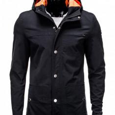 Jacheta pentru barbati, negru, stil palton, model slim - C310 - Jacheta barbati, Marime: S, M, L, XL, XXL