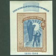 Romania 1947 - CASA SCOALELOR, colita nestampilata, N17