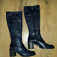 Superbe cizme dama noi piele integral foarte comode sz.37 - Cizma dama, Culoare: Bleumarin, Piele naturala