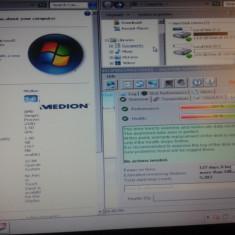 Vand Laptop Medion Akoya E1312 AMD 210U 1.5GHz, 1Gb, 160 GB PRET 230 Lei, AMD Sempron, Diagonala ecran: 11