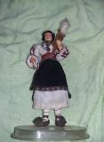 Papusa port traditional,arta crisana Taranca cu Fuiorul,lucru manual,T Gratuit