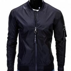 Jacheta pentru barbati, negru, cu fermoar, casual, slim fit - C217 - Jacheta barbati, Marime: M, L, XXL