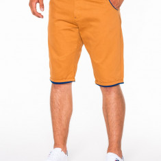 Pantaloni scurti pentru barbati, camel, casual, model de vara, slim fit, buzunare laterale - P520
