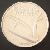 Moneda 10 Lire - ITALIA, anul 1972*cod 3083 Allu - A.UNC, Europa, Aluminiu