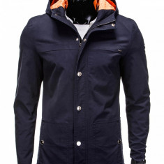 Jacheta pentru barbati, bleumarin, stil palton, model slim - C310 - Jacheta barbati, Marime: S, M, L, XL, XXL