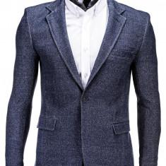 Sacou pentru barbati, bleumarin, casual, slim fit, cu buzunare aplicate, elegant, inchidere un nasture - M59 - Sacou barbati, Marime: 48, 50, 52, 54, 56, 58