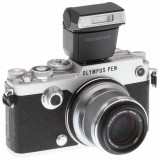 Aparat foto mirrorless Olympus Pen-F, kit cu Zuiko 17 mm