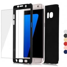 Husa Samsung Galaxy A3 2017 Fata Spate 360 Neagra - Husa Telefon Samsung, Negru, Plastic, Fara snur, Carcasa