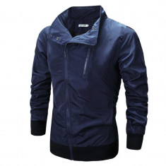 Jacheta pentru barbati, bleumarin, din fâș, slim fit - Jacheta barbati, Marime: XS, S, M