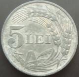 Moneda 5 Lei - ROMANIA, anul 1942  *cod 3182   ZINC