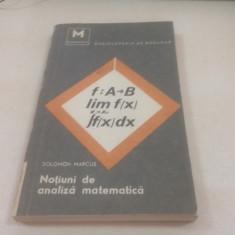 SOLOMON MARCUS, NOTIUNI DE ANALIZA MATEMATICA