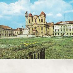 Bnk cp Timisoara - Piata Unirii - circulata - Carte Postala Banat dupa 1918, Printata