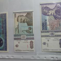Folii pentru bancnote cu 3 compartimente-lot 10 buc