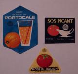 LOT 3 etichete vechi perioada comunista, eticheta veche ambalaj ambalaje