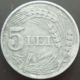 Moneda 5 Lei - ROMANIA, anul 1942  *cod 2558   XF+  ZINC!