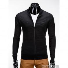 Bluza pentru barbati, negru, casual, cu fermoar, slim fit - B551 - Bluza barbati, Marime: S, XXL