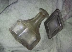 sticluta veche rara,set sticlute antice rombice,Sticle parfum,farmacie,Tp.GRATIS