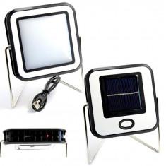 Proiector COB LED 10W Alb Rece Panou Solar USB portabil