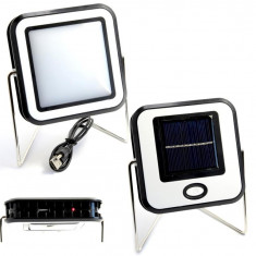 Proiector COB LED 10W Alb Rece Panou Solar USB portabil - Corp de iluminat, Reflectoare