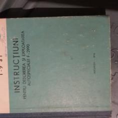 Instructiuni pentru descrierea si exploatarea Autospecialei  F2990.