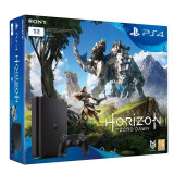 Consola SONY PlayStation 4 Slim 1 TB, negru + joc Horizon Zero Dawn - Consola PlayStation