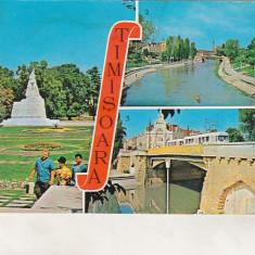 Bnk cp Timisoara - Vedere - circulata - marca fixa - Carte Postala Banat dupa 1918, Printata