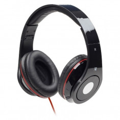 Casti audio Gembird Detroit, 3.5 mm Jack TRRS, Peste cap, Negru, Casti Over Ear, Cu fir, Mufa 3, 5mm
