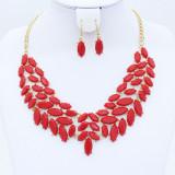 Set Colier si Cercei Pretty Red - Colier fashion