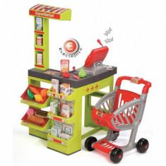 Jucarie Supermarket cu casa de marcat electronica, fructe si legume 350202 Smoby