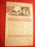 Ilustrata TCV ,in relief ,Casa la Tara ,circulat 1904, Circulata, Printata