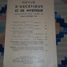 Revista Revue d' ascetique et de mystique 1963