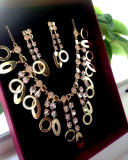Cumpara ieftin OFERTA-Set bijuterii AQA-colier+cercei-placat cu Aur 18k si Swarovski-nunta
